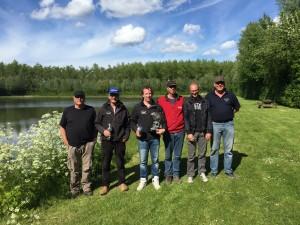 Kampioenen, deelnemers voor Recreatieboerderij van Langeraad aan NK forel vissen 2015