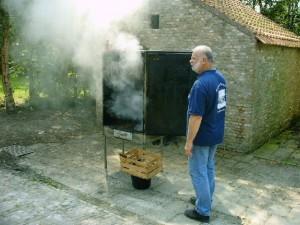 Paling roken mooie beelden Wim-2